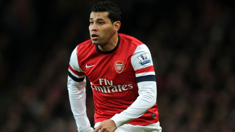 Andre Santos: Arsenal defender is a transfer target for Flamengo