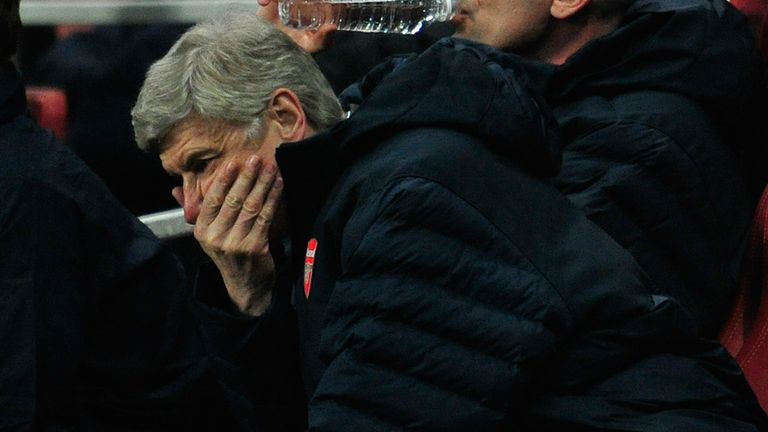 Arsene Wenger is under pressure after seven seasons without a trophy