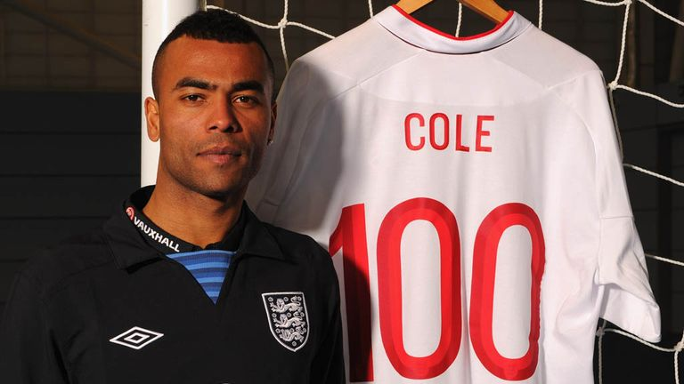 Ashley Cole: Chelsea defender will captain England to celebrate having reached 100 caps recently