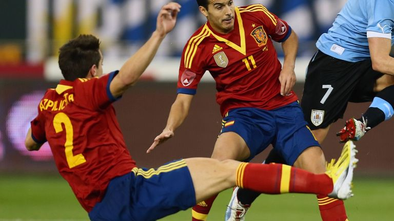 Cesar Azpilicueta: Made his Spain debut in midweek