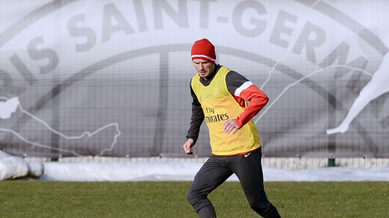 David Beckham: Has trained with PSG for the first time.