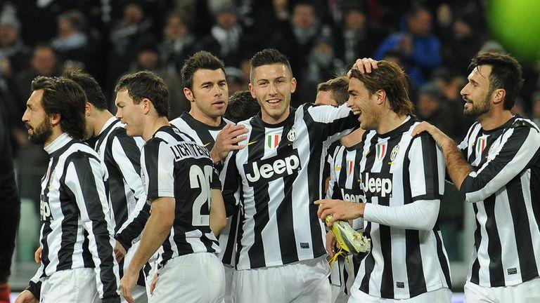 Juventus: Celebrate Alessandro Matri's goal