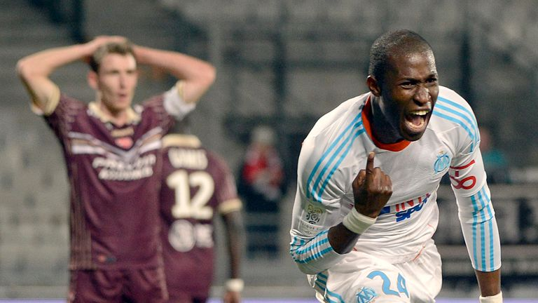 Rod Fanni: Celebrates winner for Marseille against Valenciennes