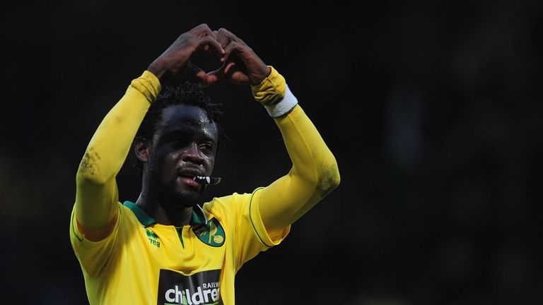 Kei Kamara: Norwich striker celebrates after Saturday's dramatic victory over Everton