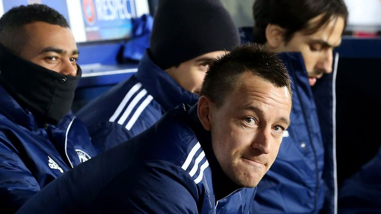 John Terry: Restricted to bench duty during Chelsea's clash with Sparta Prague