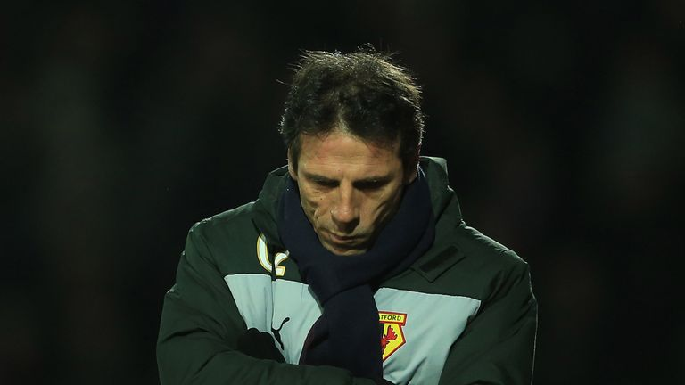 Gianfranco Zola: Has to settle for a point on a lively evening at Vicarage Road
