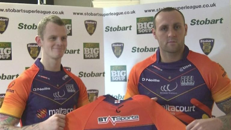 Kevin Brown (left) and Gareth Hock: could both start against Hull FC in front of the Sky Sports cameras