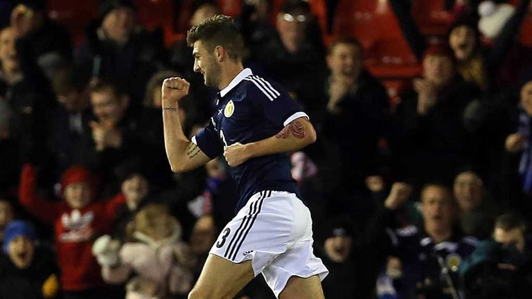Charlie Mulgrew: First strike for Scotland