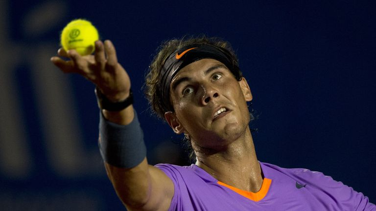 Rafael Nadal of Spain during the Mexico ATP Open men's single tennis match in Acapulco