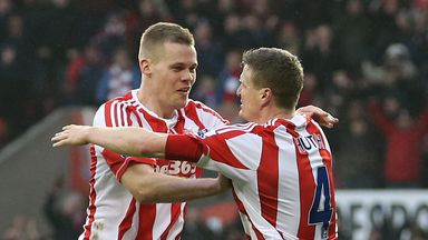 Ryan Shawcross and Robert Huth: Praised by Tony Pulis after recent goals