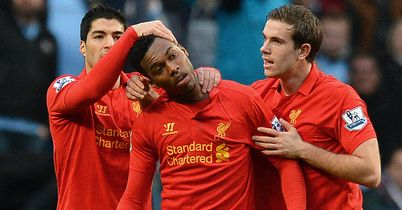 Daniel Sturridge: Celebrates goal at the Etihad