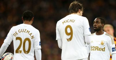 Nathan Dyer (right): Star of the show for Swansea