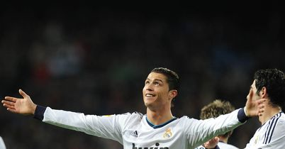 Cristiano Ronaldo: Scored a hat-trick in the victory over Sevilla