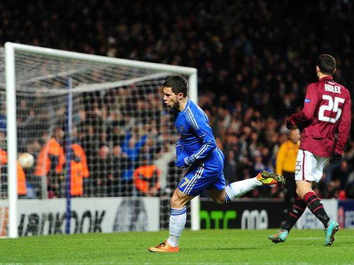 Eden Hazard scored a last-gasp equaliser on the night