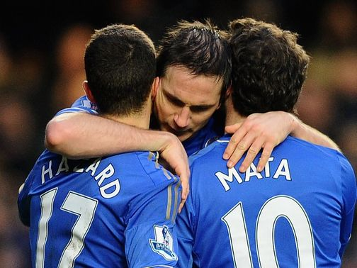 Frank Lampard: Netted against Wigan