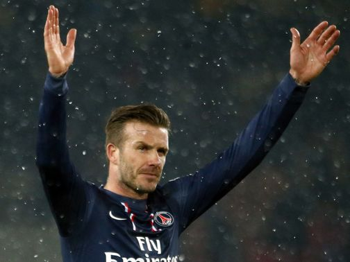 David Beckham: Winning debut for PSG