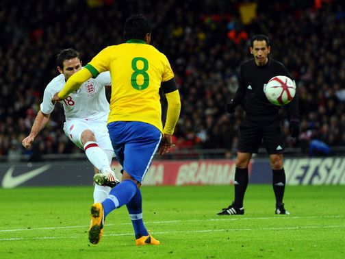 Frank Lampard&#39;s superb strike restored England&#39;s lead