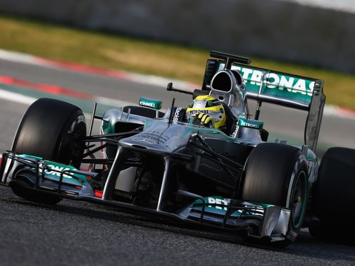 Rosberg: Quickest during testing in Barcelona