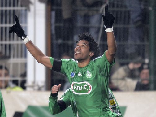 Brandao celebrates scoring for St Etienne