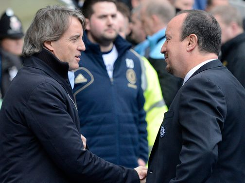 It wasn't Benitez's day as he lost his clash with Mancini.
