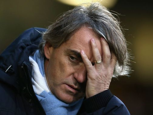 Roberto Mancini: Dominates the back pages