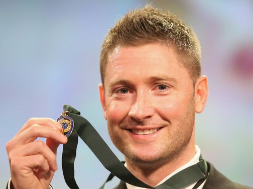 Michael Clarke: Won his fourth Allan Border medal