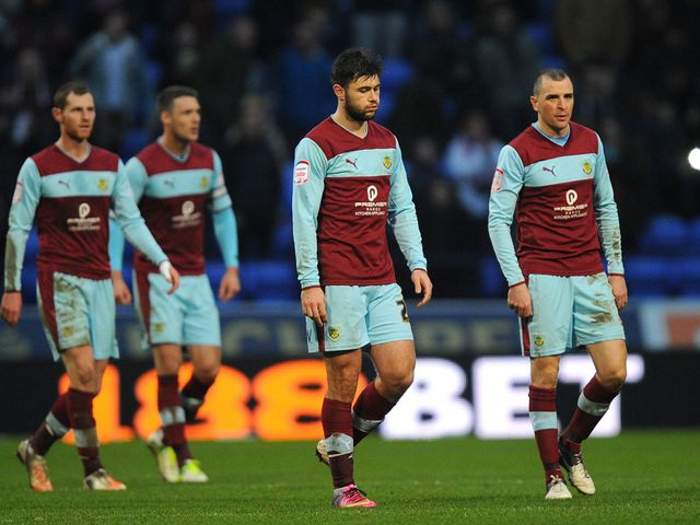 Burnley are left dejected at full time