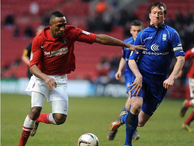 Charlton's Ricardo Fuller in action against Birmingham