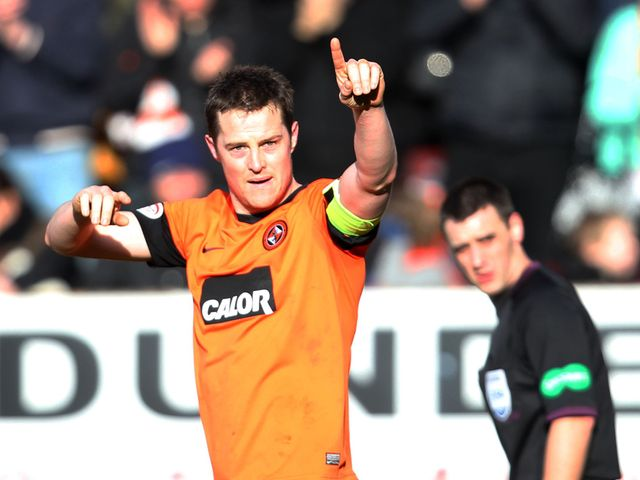 Jon Daly celebrates his goal.