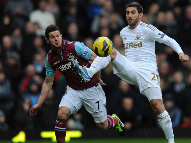 Matt Jarvis and Angel Rangel in action.
