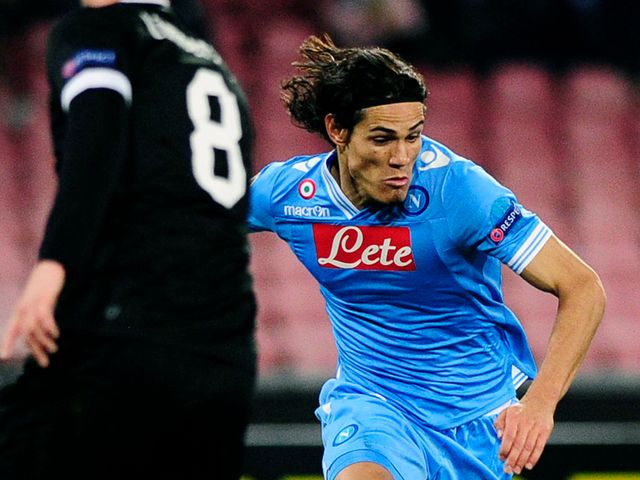 Edinson Cavani was unable to find the net for Napoli
