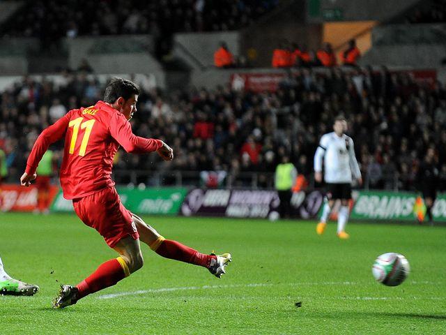 Gareth Bale scored Wales' opening goal