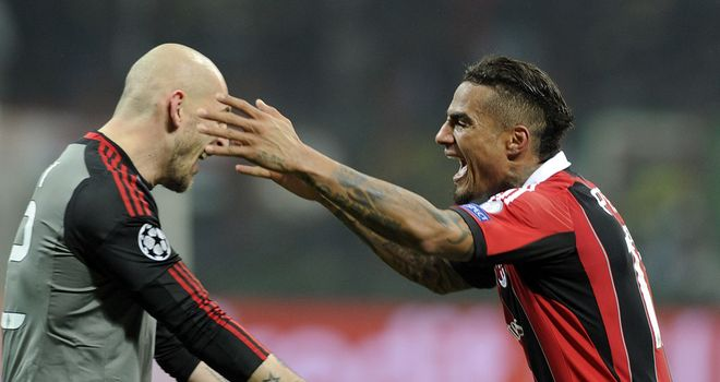 Boateng (r): scored Milan's opener