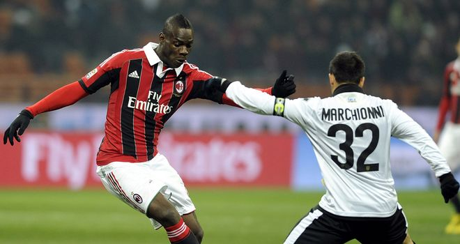 Mario Balotelli helped AC Milan to victory again.