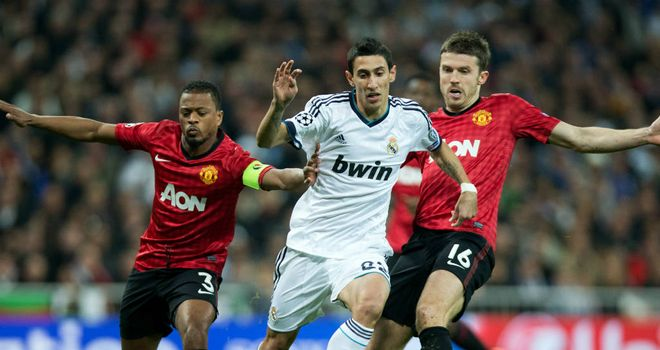 Angel Di Maria: Real winger suffered muscle sprain in Manchester United clash