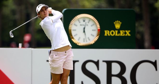Azahara Munoz: Enjoys a two-shot lead after day one