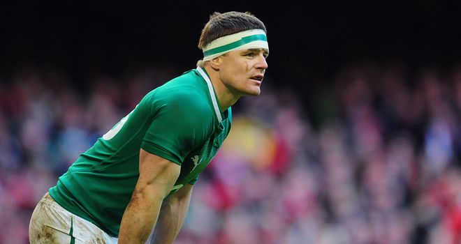 Brian O&#39;Driscoll: Took part in training on Tuesday ahead of this weekend&#39;s trip to Scotland