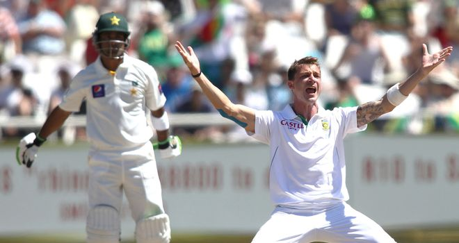 Steyn (right): Had early success but Pakistan have re-built