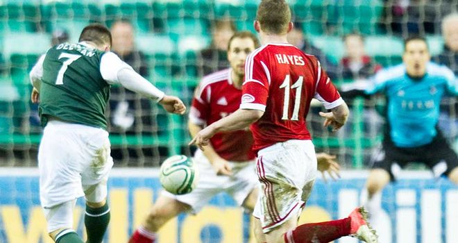 Gary Deegan: Scored only goal of the game at Easter Road