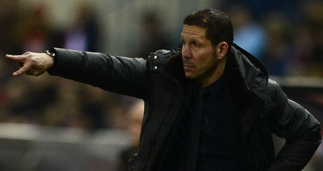 Simeone: has guided Atletico to the Copa del Rey final