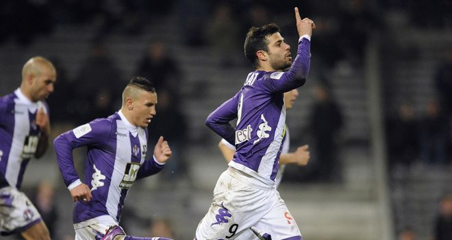 Eden Ben Basat celebrates his goal for Toulouse