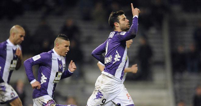 Eden Ben Basat celebrates his goal for Toulouse