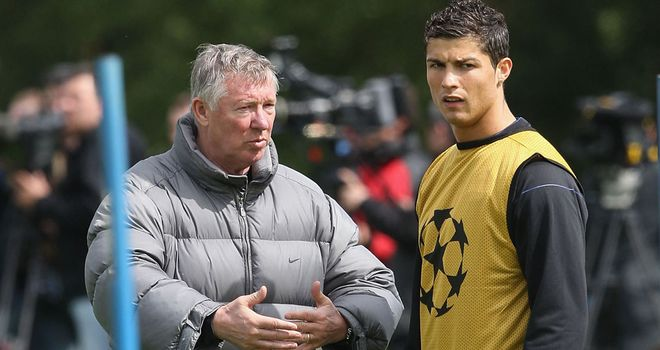 Fergie and Ronaldo in 2009