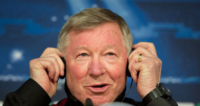 Sir Alex seems pretty relaxed as deals with media from across the globe in the build-up to 'The Perfect Match'
