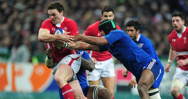 George North: Scored Wales' try against France