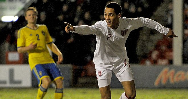 Thomas Ince: First-half brace for England