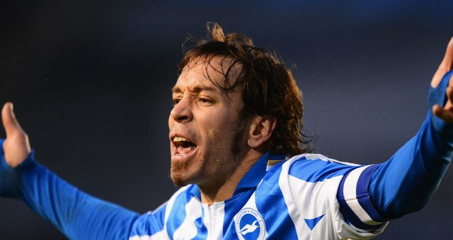 Inigo Calderon: Looking to help Brighton into the play-off places