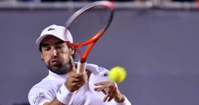 Jeremy Chardy: Didn't serve up a treat in Brazil