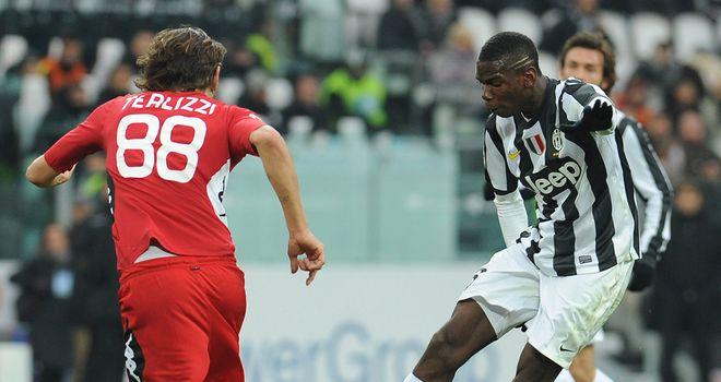 Paul Pogba finds the net for Juve