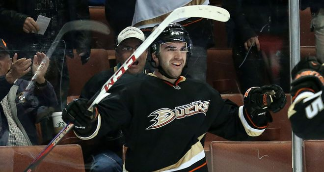 Kyle Palmieri ended a barren spell with a hat-trick